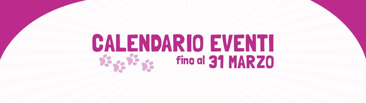 Eventi dal 19 marzo al 31 marzo