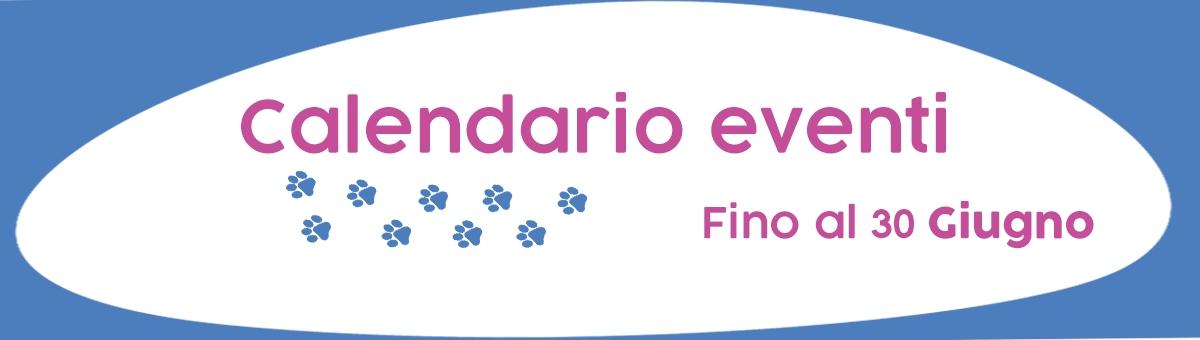 Calendario eventi fino al 30 giugno